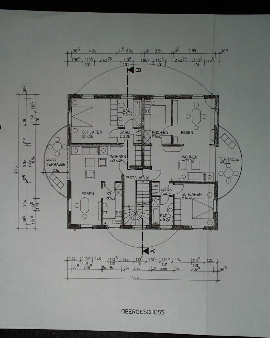 grundri mit ma en. Black Bedroom Furniture Sets. Home Design Ideas